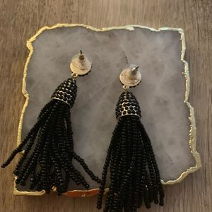 BaubleBar Jewelry - Bauble Bar black bead tassel earrings